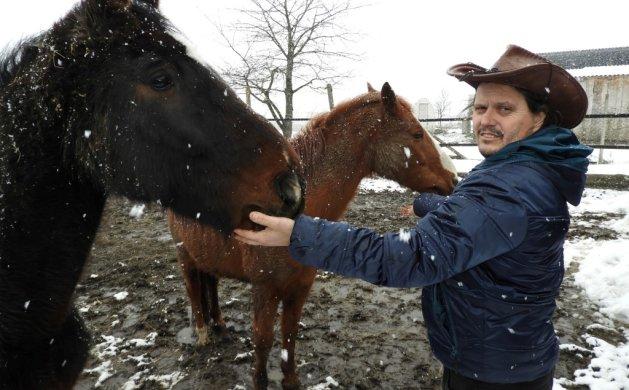 Nenad Petran sa svojim konjima Lordom i Kalijem