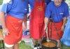 Žiškovčani Dragutin Kneklin, Ivan Kraljić i Josip Srša skuhali su pobjednički gulaš s vrganjima
